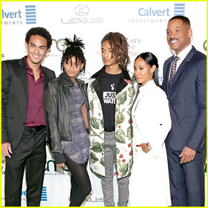 Jaden Smith Attends the Environmental Media EMA Awards with His Family!