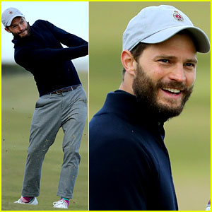 Jamie Dornan Wears Colorful Socks for Another Day of Golf!