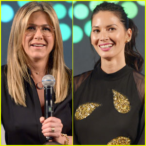 Jennifer Aniston & Olivia Munn Bring 'Office Christmas Party' to PopFest 2016