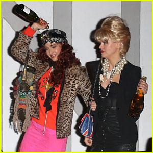 Jessica Alba Goes 'AbFab' for Halloween with BFF Kelly Sawyer