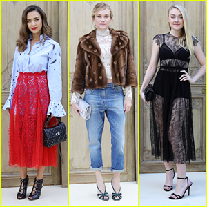 Jessica Alba & Diane Kruger Step Out For Valentino's Show at Paris Fashion Week