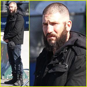 Jon Bernthal Sports Shaved Head & Bushy Beard on 'Punisher' Set!