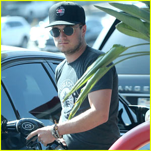 Josh Hutcherson Fills Up His Car at a Gas Station in Beverly Hills