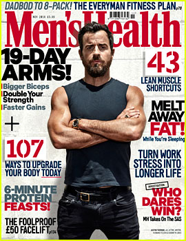 Justin Theroux's Muscles Are Ripped for 'Men's Health UK' Cover