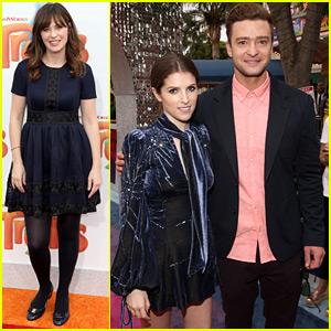 Justin Timberlake & Anna Kendrick Walk Rainbow Carpet for 'Trolls' LA Premiere!