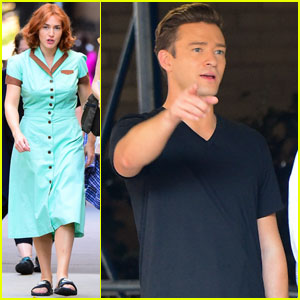 Justin Timberlake & Kate Winslet Beat the NYC Heat While On Set of Woody Allen Film