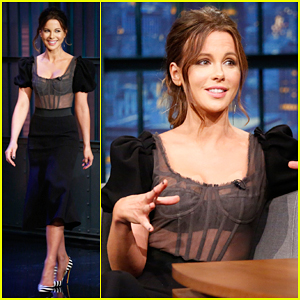Kate Beckinsale Makes Appearance On 'Late Night' After Ex Len Wiseman Files for Divorce!