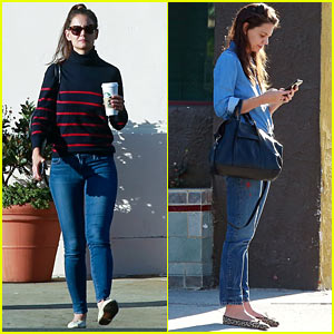 Katie Holmes Fuels Up On Coffee After 'LA Weekly' Meeting
