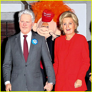 Katy Perry Dresses as Hillary Clinton for Halloween, Orlando Bloom Goes as Donald Trump Troll!