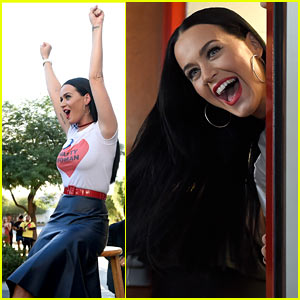 Katy Perry Visits UNLV Dorms, Urges Students to Vote for Hillary Clinton