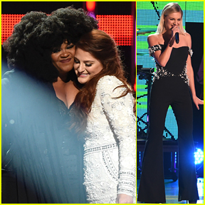 Meghan Trainor Performs with Jill Scott & Kelsea Ballerini at CMT Artists of the Year 2016