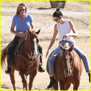 Kendall & Caitlyn Jenner Go Horseback Riding for 'KUWTK' Filming