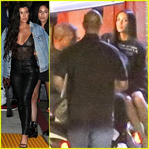 Kim Kardashian Joins Her Family at Kanye West's LA Concert