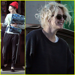 Kristen Stewart & St. Vincent Make Dog Food Run