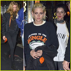 Kristen Stewart & St. Vincent Couple Up for Night Out With Stella Maxwell
