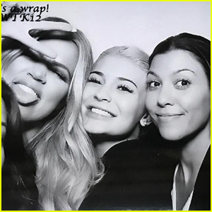 Kourtney & Khloe Kardashian Get in the Photo Booth With Kylie Jenner at 'KUWTK' Wrap Party