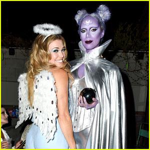 Leona Lewis & Rachel Platten Buddy Up at Just Jared's Halloween Party!