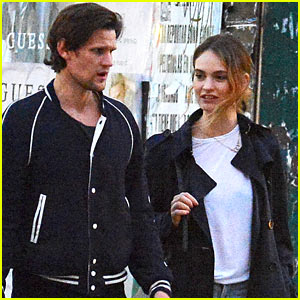Lily James & Matt Smith Enjoy a Late Night Stroll