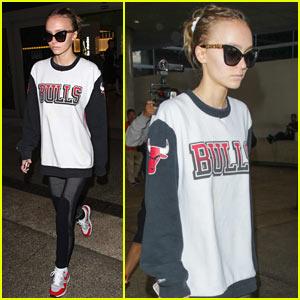 Lily Rose Depp Arrives Back in LA After PFW 2016