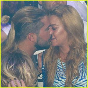 Lindsay Lohan Kisses Business Partner Dennis Papageorgiou