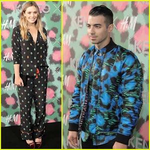 Elizabeth Olsen, Joe Jonas, & More Get Colorful at Kenzo x H&M