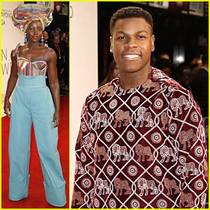 Lupita Nyong'o & John Boyega Bring 'Star Wars' to 'Queen of Katwe' Screening