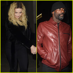 Madonna & Idris Elba Arrive at a Party in London Together!