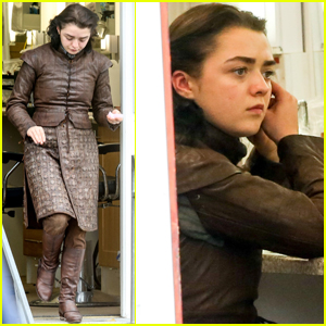 Maisie Williams Gets Ready for Combat on the Set of 'Game of Thrones'