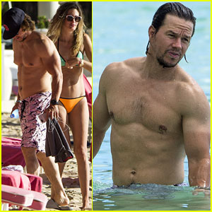 Mark Wahlberg Is Beyond Ripped Going Shirtless on the Beach!