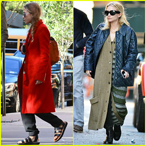 Mary-Kate & Ashley Olsen Step Out Separately After Returning Home from France