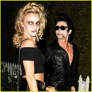 Matthew Bellamy Does Bloody 'Grease' Costume with Elle Evans