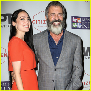 Mel Gibson & Pregnant Girlfriend Rosalind Ross Step Out at Charity Poker Tour