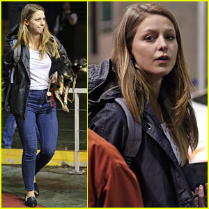 Melissa Benoist Heads Back to Her Hotel After Filming CW Crossover!