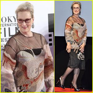 Meryl Streep Attends 'Florence Foster Jenkins' Premiere at Tokyo Film Festival!