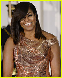 Michelle Obama's Versace State Dinner Dress Cost a Pretty Penny!