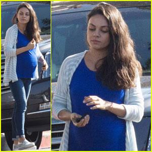 Mila Kunis Runs Errands With Her Cute Baby Bump on Display