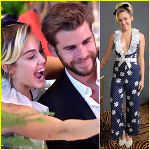 Miley Cyrus & Liam Hemsworth Couple Up at Variety's Power of Women Luncheon