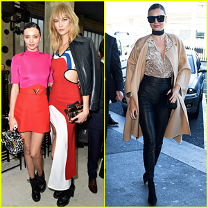 Miranda Kerr & Karlie Kloss Buddy Up At Louis Vuitton Paris Fashion Show!
