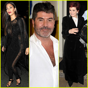 Nicole Scherzinger & Simon Cowell Attend Sharon Osbourne's 64th Birthday Dinner