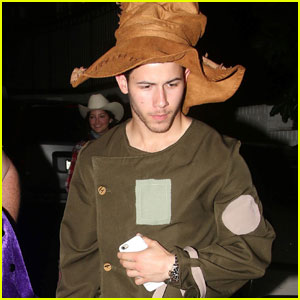 Nick Jonas Makes One Hot Scarecrow for Halloween!