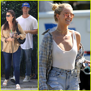 Patrick Schwarzenegger Goes House Hunting with Mom Maria Shriver!