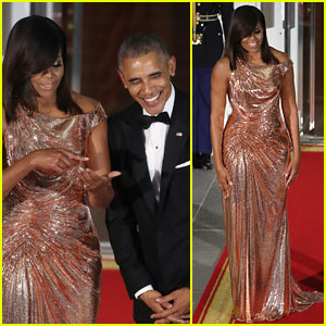 President Barack Obama & First Lady Michelle Stun at Final State Dinner