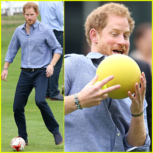 Prince Harry Adorably Goofs Around While Playing Soccer! (Video)