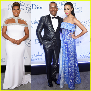Queen Latifah, Leslie Odom Jr. & Pregnant Wife Nicolette Robinson Get Glam At Princess Grace Awards Gala!