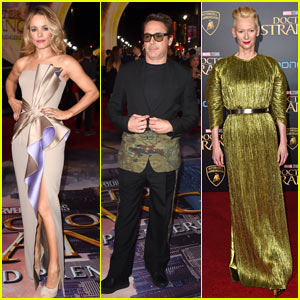 Robert Downey Jr. Joins Rachel McAdams & Tilda Swinton at 'Doctor Strange' Premiere in LA!