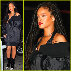 Rihanna Hits Up Marquee on Halloween Weekend