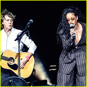 Rihanna Makes Surprise Performance at Desert Trip Festival with Paul McCartney!