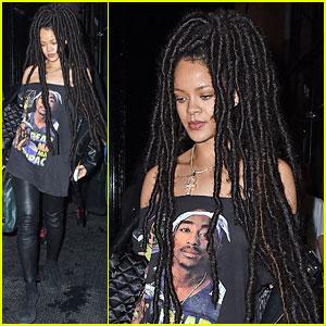 Rihanna Debuts Long Dreadlocks After Paris Fashion Week Trip