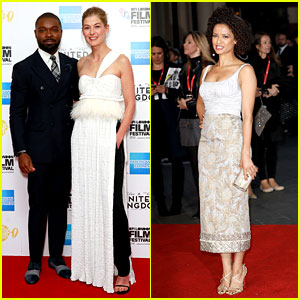Rosamund Pike & David Oyelowo Get Support from Gugu Mbatha-Raw at 'United Kingdom Premiere!