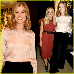 Rosamund Pike & Joanne Froggatt Are Chic Brits in Burberry!